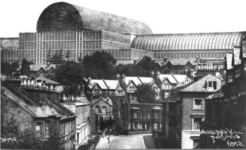 The Crystal Palace from Woodland Hill c.1920